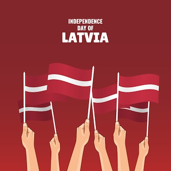 Szczęśliwy dzień niepodległości łotwy.