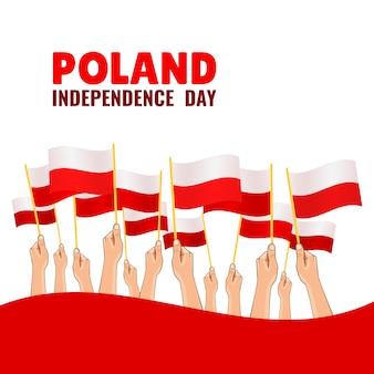 Szczęśliwy dzień niepodległości polski.