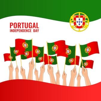 Szczęśliwy dzień niepodległości portugalii.
