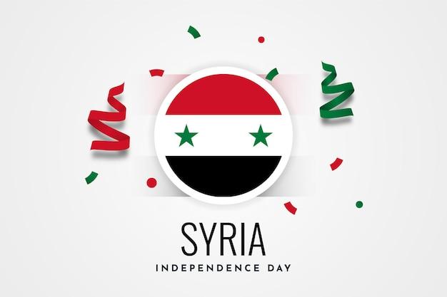 Szczęśliwy dzień niepodległości syria ilustracja szablon projektu