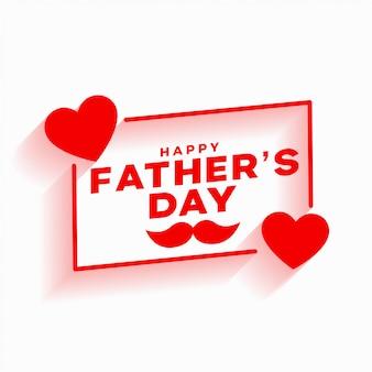 Szczęśliwy dzień ojca czerwony związek miłości