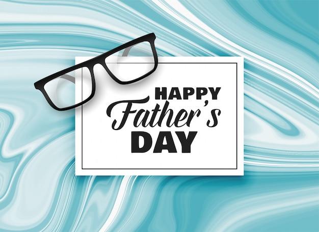 Szczęśliwy dzień ojca karta wzór tła