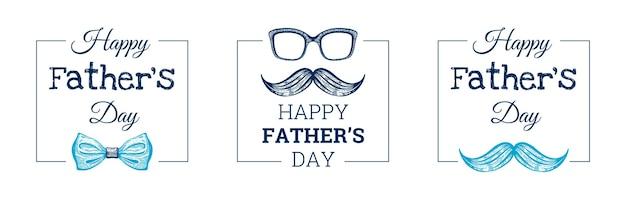 Szczęśliwy dzień ojca kartkę z życzeniami scenografia