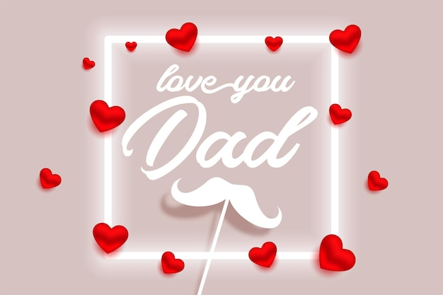 Szczęśliwy dzień ojca ładny projekt kartki z życzeniami