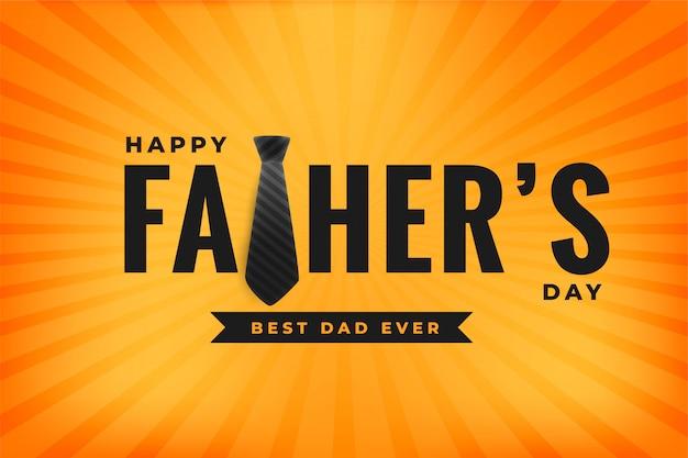 Szczęśliwy dzień ojca najlepszy tata kiedykolwiek żółty