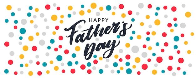 Szczęśliwy dzień ojca napis transparent sprzedaż pędzla wzór tekstu