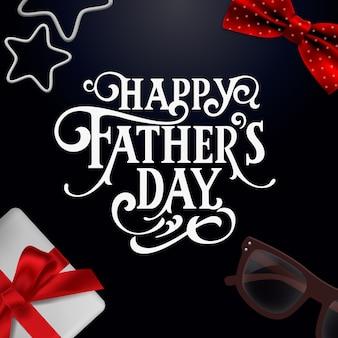 Szczęśliwy dzień ojca odręcznie napis.