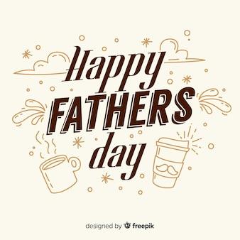 Szczęśliwy dzień ojca tło