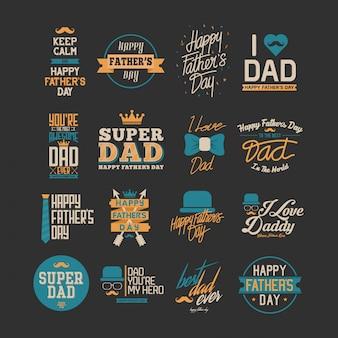 Szczęśliwy dzień ojca typografia