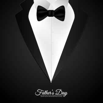 Szczęśliwy dzień ojca w czarnym kolorze tła