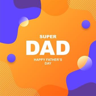 Szczęśliwy dzień ojca w mediach społecznościowych b