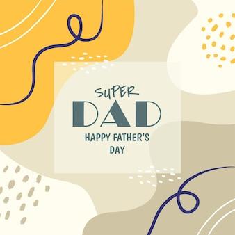 Szczęśliwy dzień ojca w mediach społecznościowych d