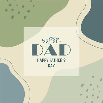 Szczęśliwy dzień ojca w mediach społecznościowych e