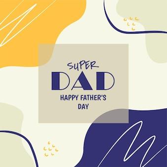 Szczęśliwy dzień ojca w mediach społecznościowych f