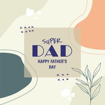 Szczęśliwy dzień ojca w mediach społecznościowych g