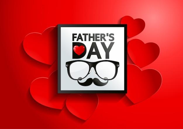 Szczęśliwy dzień ojca w tle dzień z okazji dnia ojca
