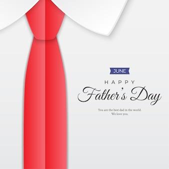 Szczęśliwy dzień ojca z krawatem