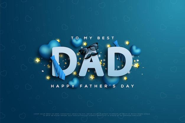 Szczęśliwy dzień ojca z pisaniem dad