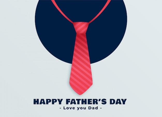 Szczęśliwy dzień ojców czerwony krawat tło