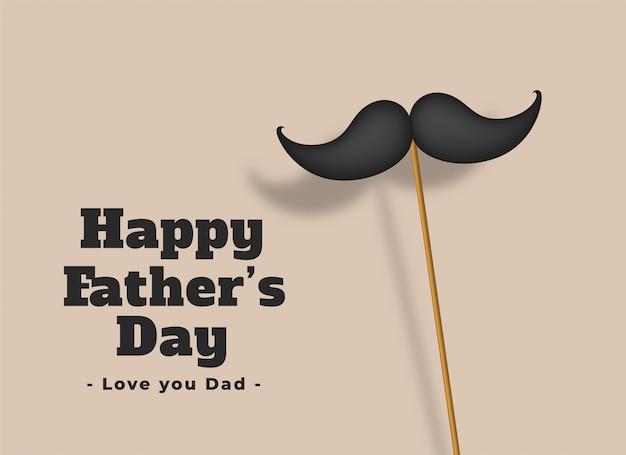Szczęśliwy dzień ojców kocham kartę taty