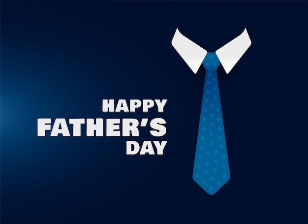 Szczęśliwy dzień ojców koszula i krawat koncepcja tło