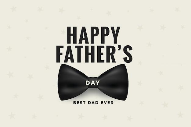 Szczęśliwy dzień ojców z realistycznym wzorem łuku