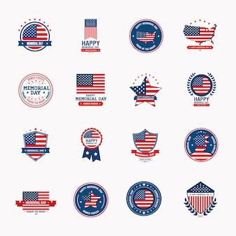 Szczęśliwy dzień pamięci szesnaście ikon