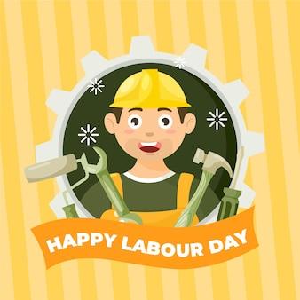 Szczęśliwy dzień pracy tło