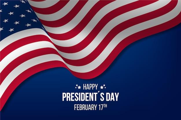 Szczęśliwy dzień prezydenta z realistyczną flagą