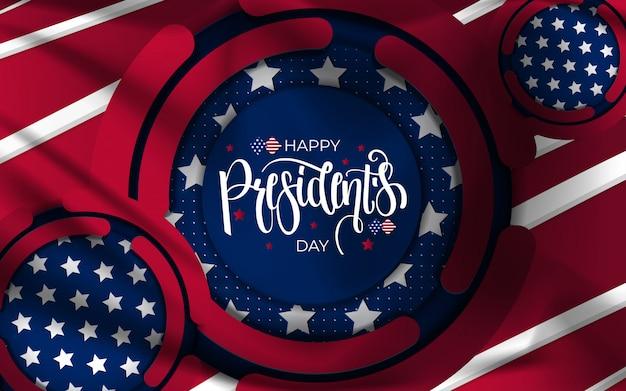 Szczęśliwy dzień prezydentów tło.