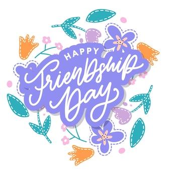 Szczęśliwy dzień przyjaźni kartkę z życzeniami.