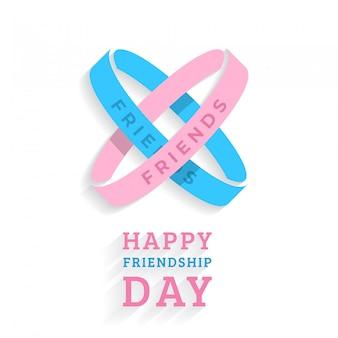 Szczęśliwy dzień przyjaźni wakacje bransoletki transparent