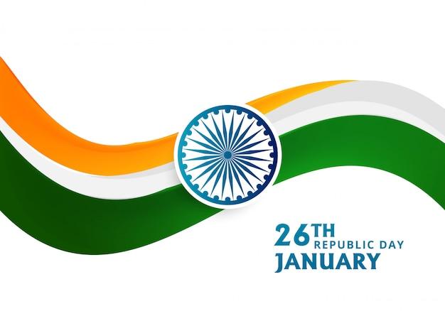 Szczęśliwy dzień republiki indii festiwal z falą