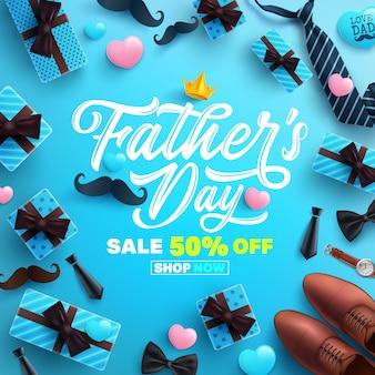 Szczęśliwy dzień sprzedaży transparent ojca