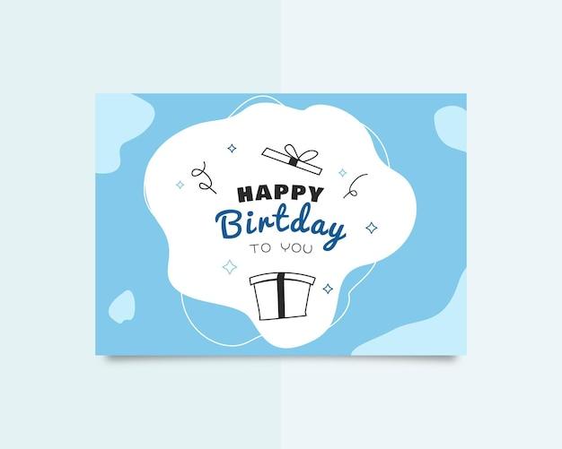 Szczęśliwy dzień urodzin kartka z życzeniami projekt szablonu
