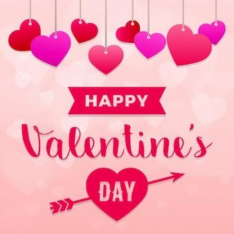 Szczęśliwy dzień valentines tła z serca