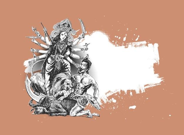 Szczęśliwy festiwal durga puja indie wakacje tło