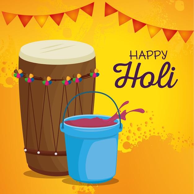 Szczęśliwy festiwal holi