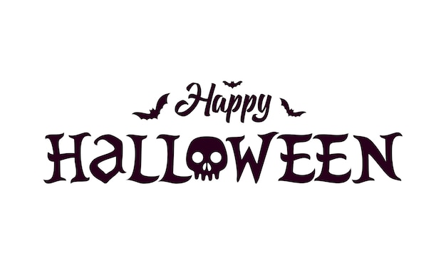 Szczęśliwy halloween napis tekst banne