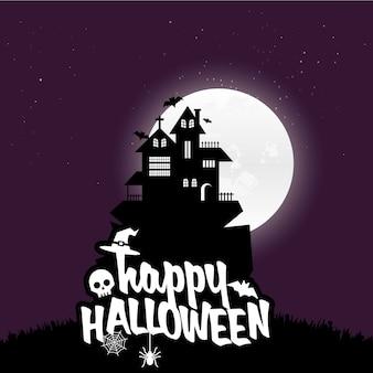 Szczęśliwy halloween straszny noc tło