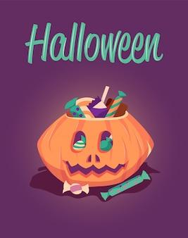 Szczęśliwy halloweenowy kartka z pozdrowieniami