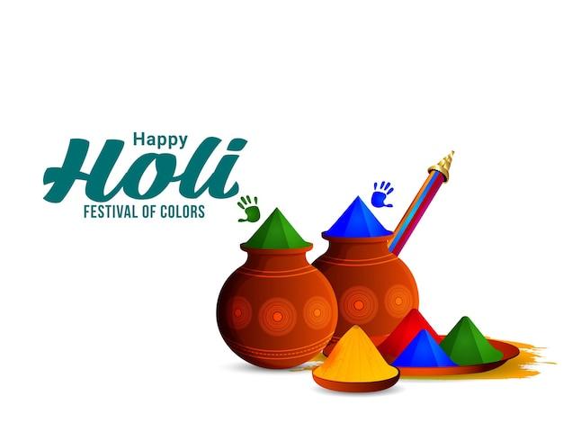 Szczęśliwy holi hinduski indyjski festiwal w tle