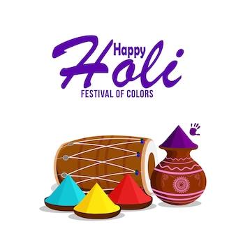 Szczęśliwy holi indyjski hinduski festiwal tło
