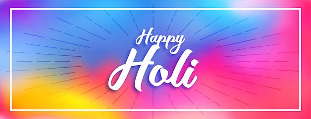 Szczęśliwy holi kolorowy hinduski festiwal banner