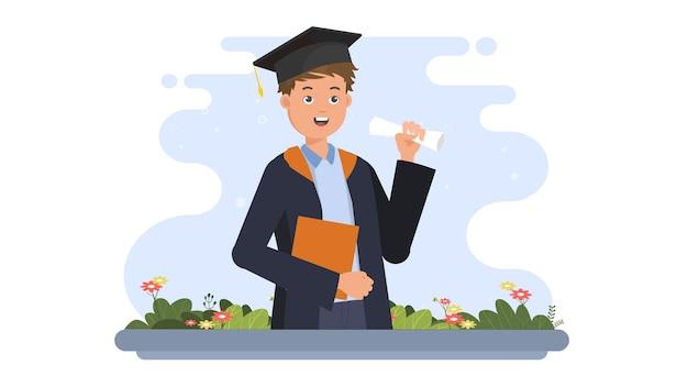 Szczęśliwy ilustracja ukończenia szkoły