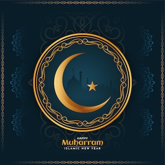Szczęśliwy islamski muharrama religijny