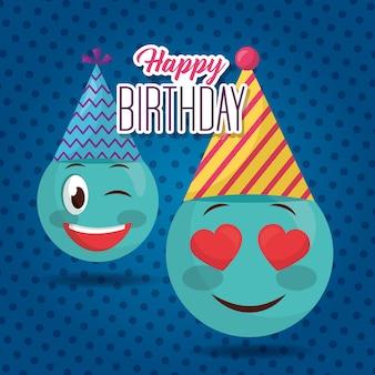 Szczęśliwy kartka urodzinowa
