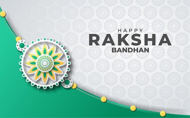 Szczęśliwy kartkę z życzeniami eaksha bandhan