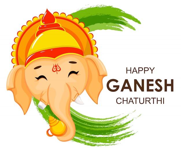 Szczęśliwy kartkę z życzeniami ganesh chaturthi