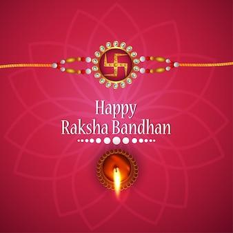 Szczęśliwy kartkę z życzeniami raksha bandhan
